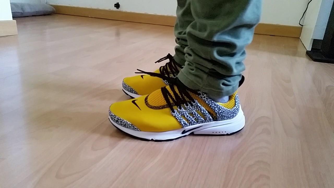 82e4cd2c9fc0 Nike air presto Qs gold - YouTube