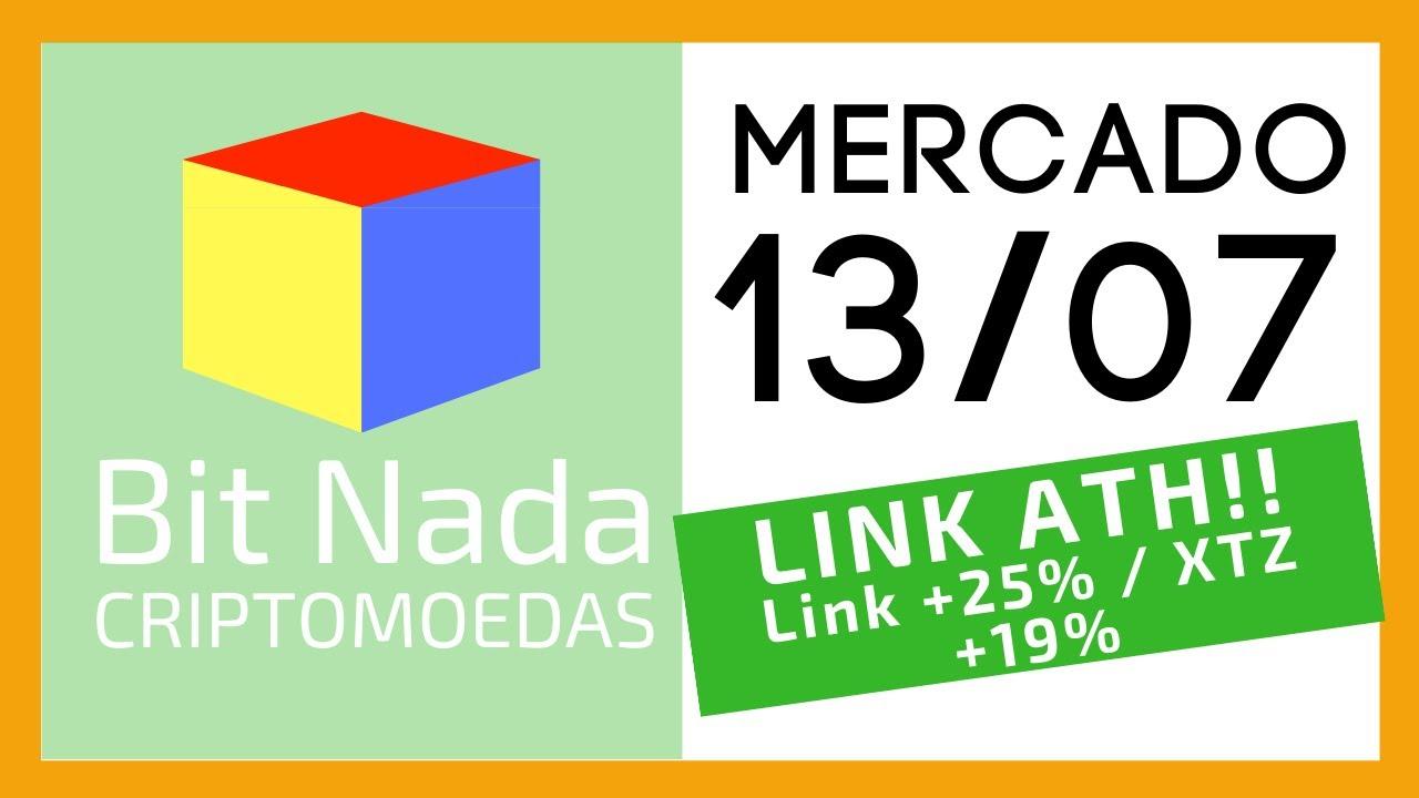 Mercado de Cripto! 13/07 Bitcoin perdendo dominância / LINK no Topo Histórico! / Link +25% XTZ +19%