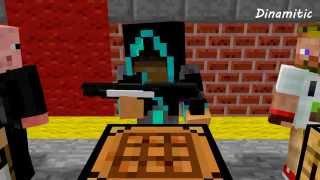 Minecraft Мультики - Крафт оружия (Школа Летсплейщиков: Диллерон, Лололошка, Фрост, Свин плей)