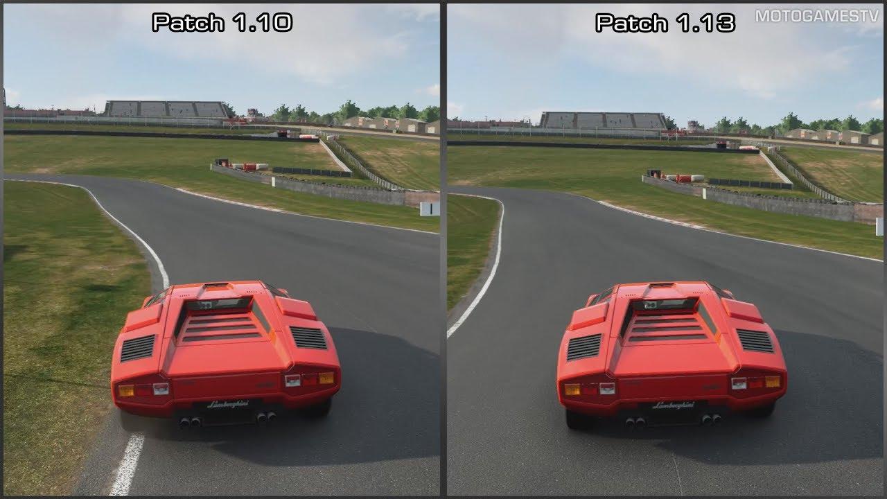 Gran Turismo Sport - Patch 1.10 vs 1.13 - Lamborghini Countach LP400 Sound Comparison - YouTube