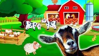 УЧИМ ЖИВОТНЫХ Кто Живет на Ферме? Развивающий мультик про Животных и ЗВУКИ ЖИВОТНЫХ для Малышей