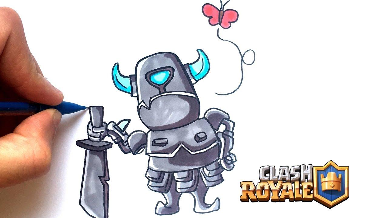 Dessin Mini Pekka Clash Royale