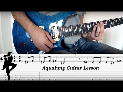 Aqualung Riff Guitar Lesson With Tab HD