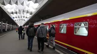 Как объявляют поезда на Московском вокзале в Санкт-Петербурге HD январь 2020