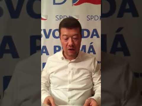 Tomio Okamura: Jednání ČSSD a ANO zkrachovalo