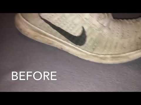 Repairing Ice White Nike Free RN