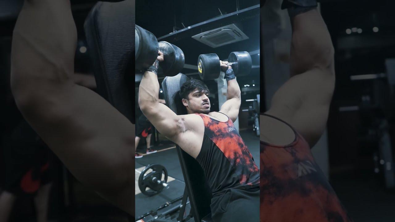 40 Kg Shoulder Press For 10 Reps ❤️ Natural Strength #youtubeshorts #shorts #fitness