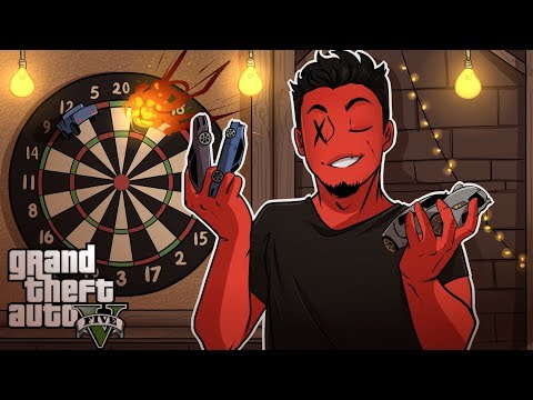 GTA 5 Online | KING OF THE CAR DARTS! (w/ H2O Delirious, Ohmwrecker, and Gorillaphent)