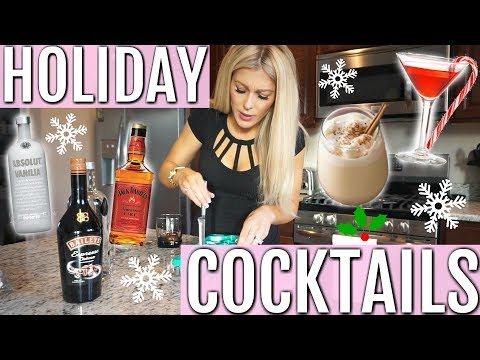 EASY HOLIDAY CHRISTMAS COCKTAILS | 2 RECIPES 🍸🎄