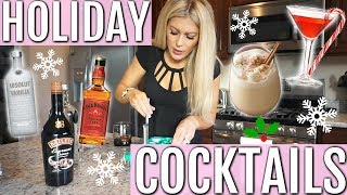 EASY HOLIDAY CHRISTMAS COCKTAILS   2 RECIPES 🍸🎄