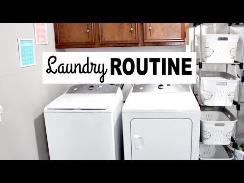 MY LAUNDRY ROUTINE! STAY AT HOME MOM! SIMPLE & REAL