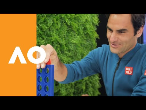 WATCH: Federer faces little girl in Connect Four