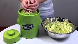 How to make Sauerkraut with a Mad Millie Fermenting Crock