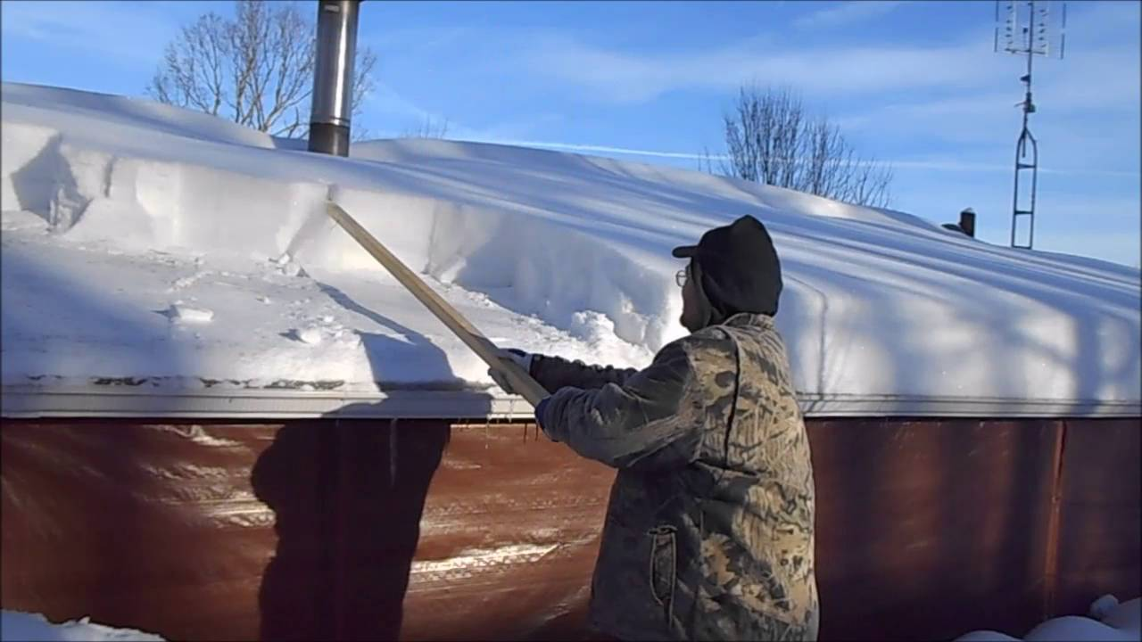 Simple Tool For Getting Snow Off Your Roof Youtube