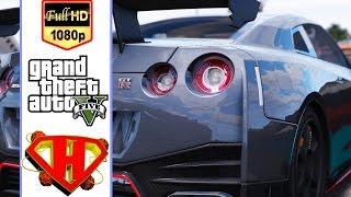 استعراض سيارات Nissan GTR y97 في لعبة حرامى السيارات 5 grand theft auto v online PC