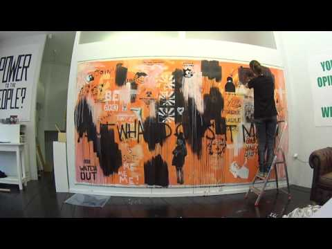 Sarah Maple in Residence with Pipsqueakwashere at KochxBos Gallery Amsterdam