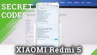 XIAOMI Redmi 5 CODES / Hidden Mode / XIAOMI Secret Menu