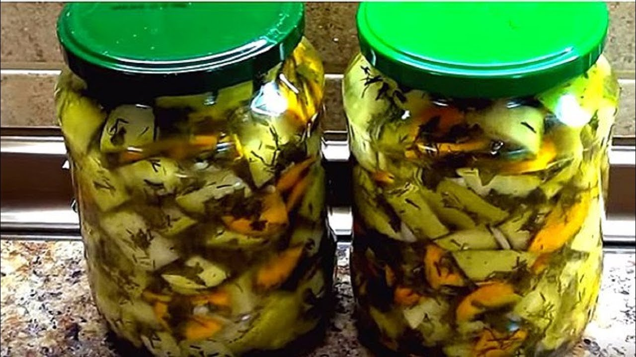 Суперские кабачки на зиму. Как грибы - очень вкусные и ...