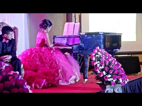 Jatzel's Quinceañera Waltz, Surprise Dance and Live Piano