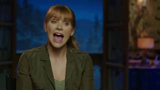 "JURASSIC WORLD FALLEN KINGDOM ""Claire"" Behind The Scenes Bryce Dallas Howard Interview"