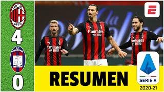 AC Milan 4-0 Crotone. Dobletes de Zlatan Ibrahimovic y Rebic y el Milan es de nuevo líder | Serie A