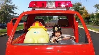 불이 난것 같은데!! 서은이의 소방관 출동 대피 훈련 화재시 행동 놀이 교육 소방차 뽀로로 물총 놀이 Seoeun Pretend Play Fireman