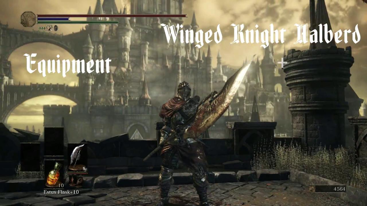 Dark Souls 3 Winged Knight Halberd Pvp Youtube