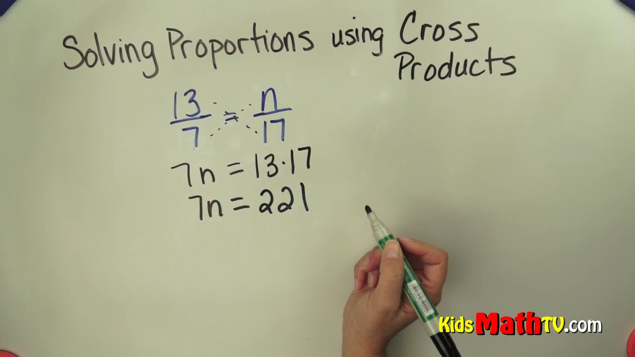 Solving proportions using cross products 7th grade - YouTube [ 720 x 1280 Pixel ]