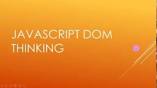 [Arabic] JavaScript DOM Practice #1- DOM Thinking
