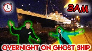 OVERNIGHT AT HAUNTED QUEEN MARY SHIP (Caught Ghost)
