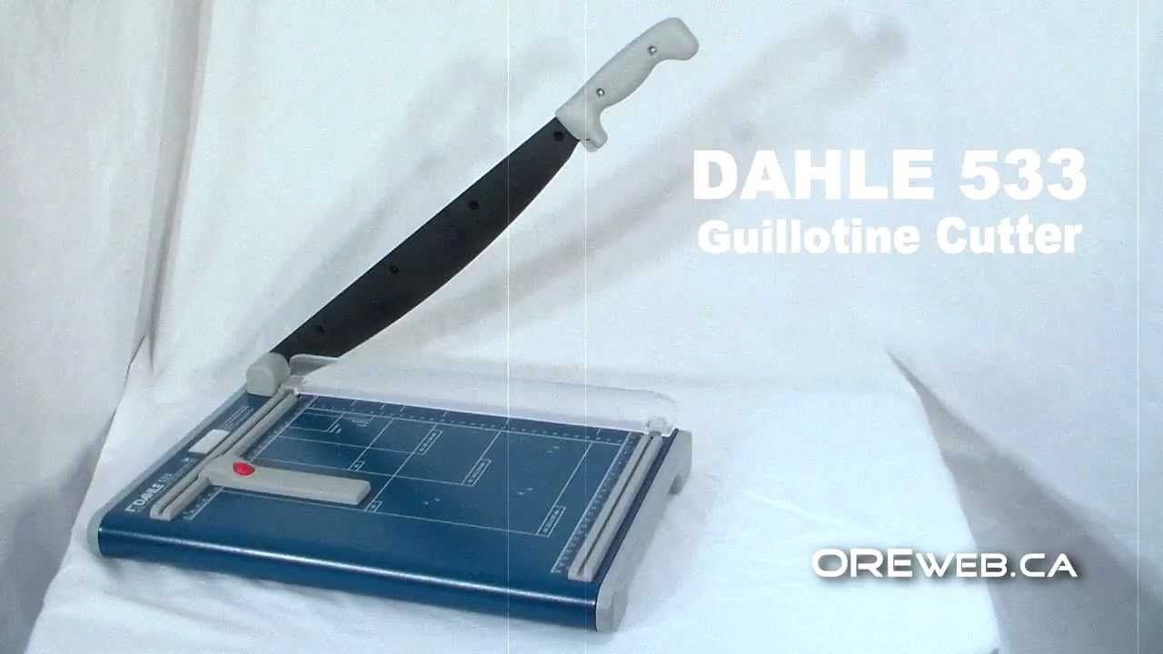 paper trimmer and cutter dahle 533 guillotine youtube