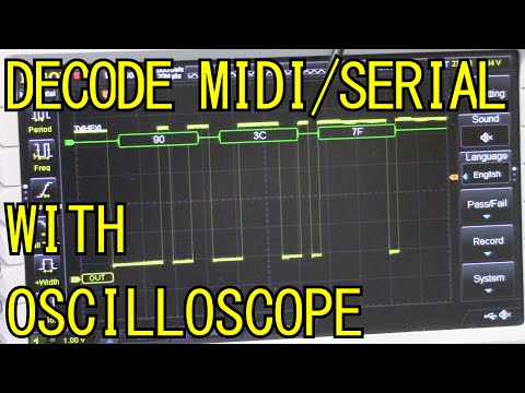 Decoding/debugging MIDI Serial Data on an Oscilloscope