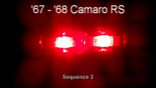 1967 - 1968 Camaro RS LED Sequential Tail Lights by Easy Performance Products