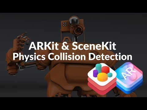 SceneKit, ARKit and Swift 4 - Basics Tutorial - Part 6 - Physics Collision Detection thumbnail