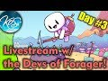 Forager LIVESTREAM with the Devs, Day #3!  Giveaway, Funny Dev Stories!
