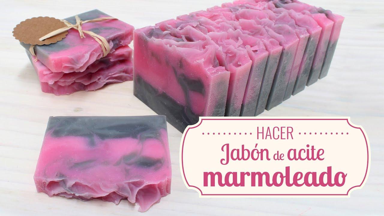 Hacer jab n de aceite marmoleado con aroma de palomitas de - Hacer jabones de glicerina decorativos ...