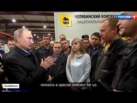 WHAT SANCTIONS? Putin Visits Russia's Industrial Heartland And Talks With Workers