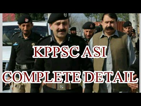 Assistant Sub Inspector in police KPPSC complete guidline