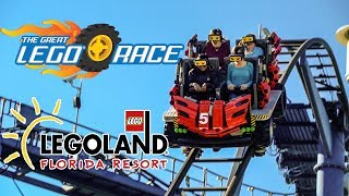 The Great Lego Race Roller Coaster Teaser! Legoland Florida
