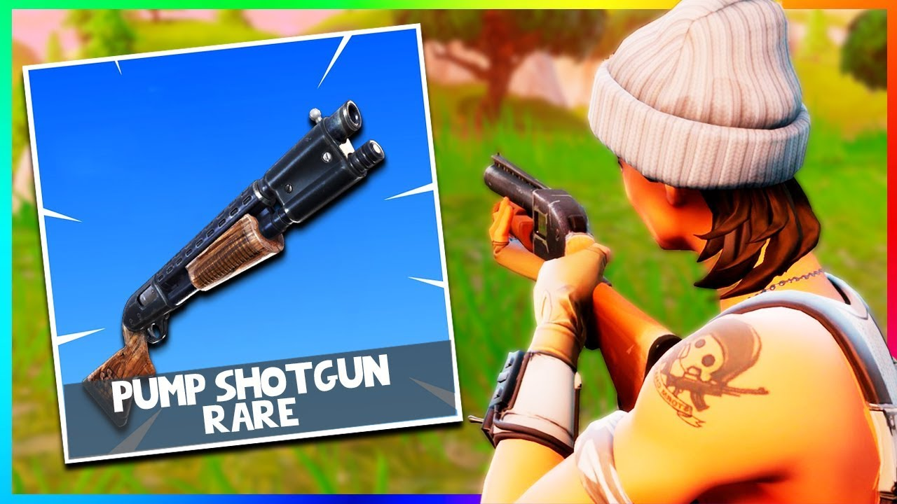 ad6c41b9ab8  NEW  RARE PUMP SHOTGUN GAMEPLAY in FORTNITE! (Fortnite Battle Royale NEW  Update)