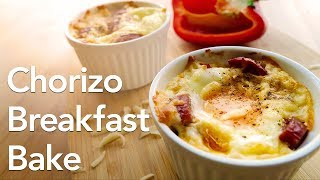 Low Carb Keto Breakfast Recipe - Chorizo Bake  | ASMR cooking sounds