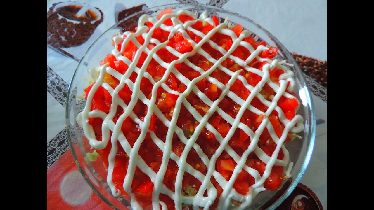 как приготовить салат золотой розан