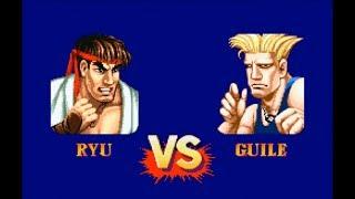 Street Fighter II Turbo Hyper Fighting - Ryu vs. Guile - Hardest Setting