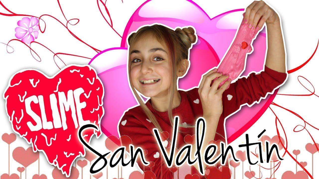 SLIME de SAN VALENTIN 😍 Especial día del amor y la amistad ❤️ Cómo hacer SLIME - Silvia Sánchez #1