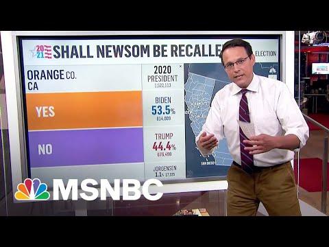 California Recall: Kornacki Breaks Down New Exit Polling