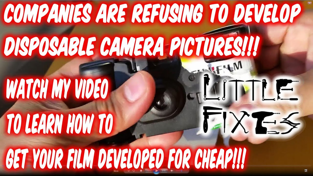 How To Get Disposable Camera Pictures Developed Now That They Arent