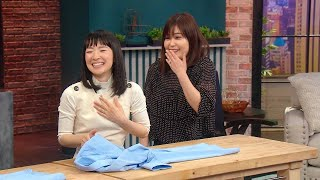 Tidying Queen Marie Kondo Adorably Slips Up While Demonstrating Folding Technique