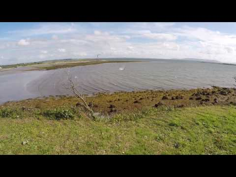 Kiting on Ballyloughan beach in Renmore, Galway