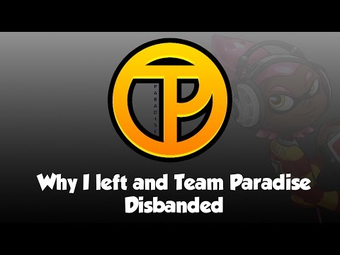 Why DUDE left Team Paradise's Splatoon Competitive Team