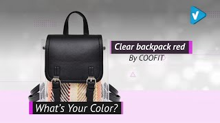 Clear Backpack, COOFIT Clear Purse Clear Bag Fashion Backpack Transparent Backpack For Women